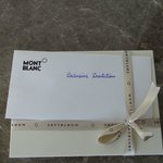 Would have been great if the Mont Blanc complimentary gift was a pen