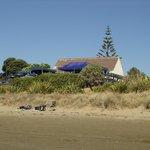 Long Bay Restaurant seen from the beach