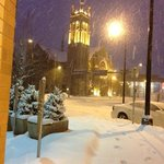"View from the lobby front door - 6"" fell! Short 3-4 minute walk to convention"