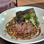 Beef Teriyaki with sesame pan-fried noodles