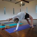 Yoga practice in Galapagos