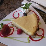 Keylime pie... a work of art and a large piece!