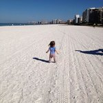 """Early morning walk on our beautiful white sandy beach on the """"Island of Paradi"""