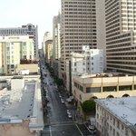View up Mason Street  from 9th floor (toward O'Farrell)