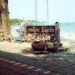 around the beach