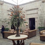 Lobby courtyard