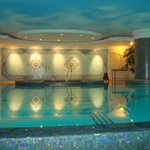 Indoor pool in the hotel and spa