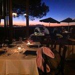 sundown at la Pineta on a still Autumn evening.