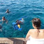 Snorkel aún con el agua muy fría