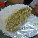 Delicious homemade coconut cake