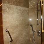 Fantastic bathroom with handheld and rain shower head