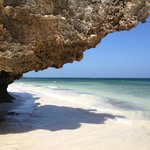 The beautiful beach on the Indian Ocean near Watamu