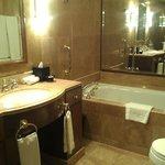 bathroom with huge bath tub