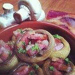 Stuffed Mushroom with Pork Belly Bacon