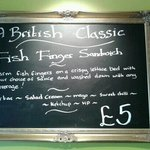Fish Finger Sarnie..now your're talking!