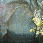 Maori Rock Carvings Taupo
