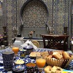 Breakfast at the exquisite Riad Rcif. Superb!