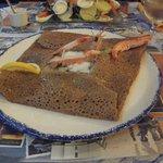 Galette saumon poireau créme