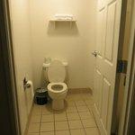 Bathroom next to entrance