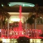 Hotel fountains at night