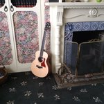 Living room with my guitar
