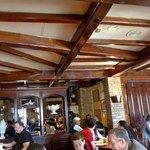 Low wood beams for that warm rustic atmosphere.