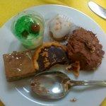 The green shot dessert was amazing!