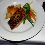 Char grilled Atlantic salmon entree