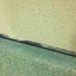 Plaster dust from fitting of hooks not cleaned