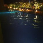 Swim up room at night.