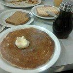Pancakes, two slices