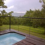 Jacuzzi and view @ honeymoon suite