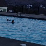 Swimming outside in the Winter