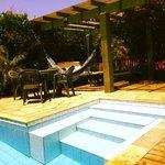 escada da piscina