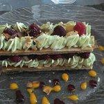 menu à 19 et 25€. millefeuille pistache framboise