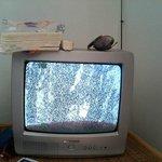 Télévision minuscule et ne captant rien !