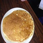 huge 12 inch pancakes!! had to take a picture