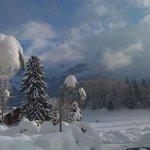Les Sciernes sous la neige
