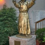 Statue at the entrance to the church.
