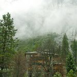 Clouds over Ahwahnee Hotel
