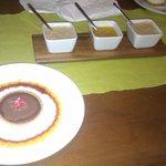 Mango, Chocolate & Coffee extra sauces