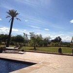 piscine et terrasse de l'hôtel