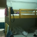 double deck bed and toilet