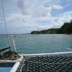 Catamaran ride to Dunn's River Falls