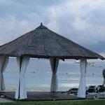 massage hut  on the beach