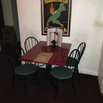 small side dining area