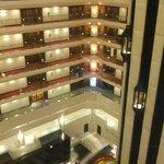 Rooms around the atrium