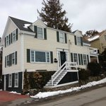 From the street in front of Harborside House March 2013
