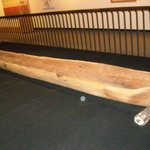 dug out canoe in the museum