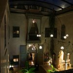 View from balcony into Riad